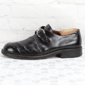 Cole Haan Leather Monk Strap Buckle Dress